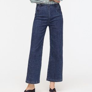 J. Crew Slim Wide-leg Jean with Sailor Buttons